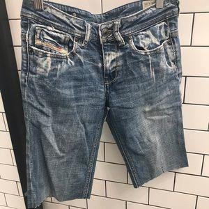 Diesel denim cut off shorts